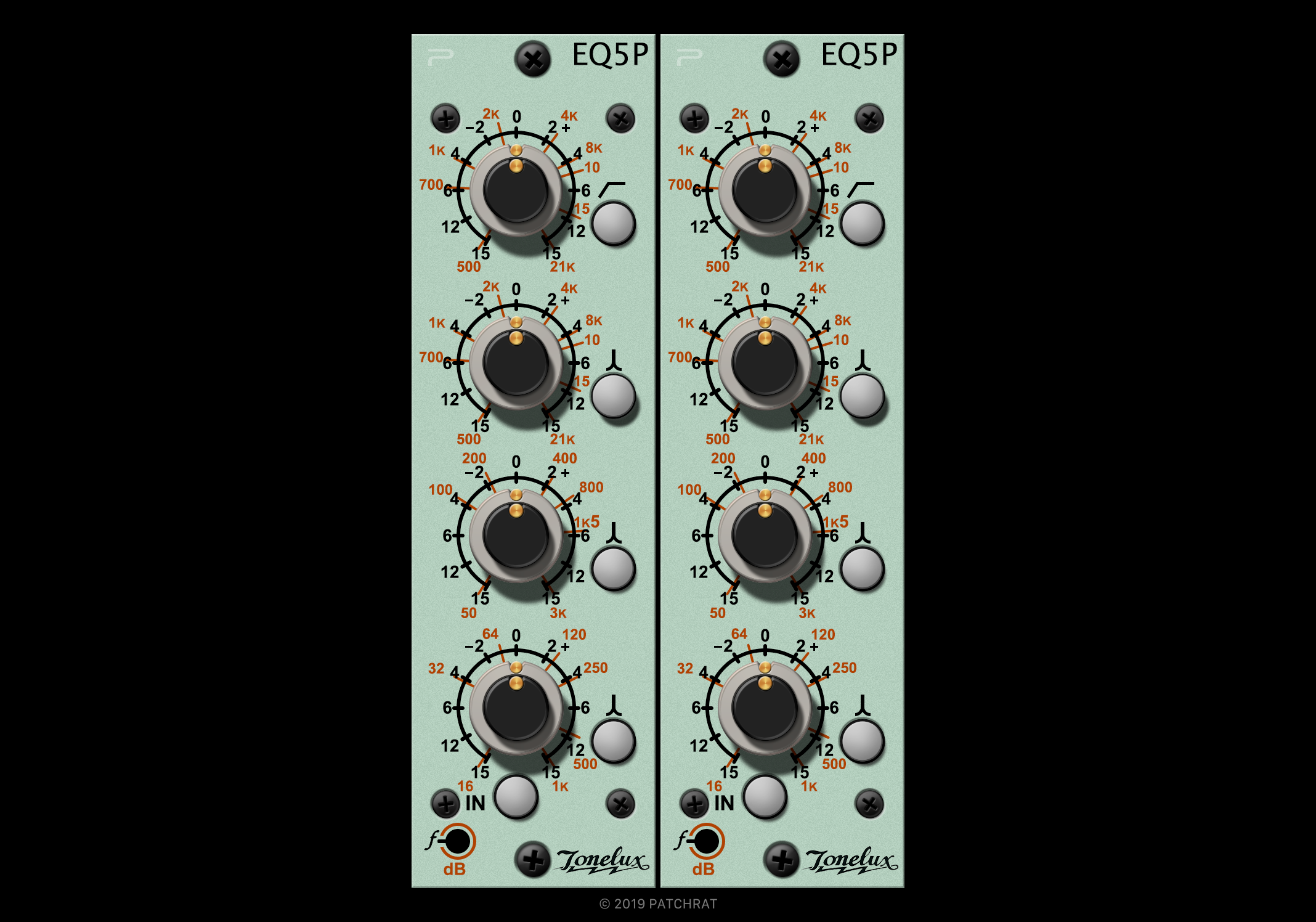 Tonelux EQ5P recall module for the Patchrat app