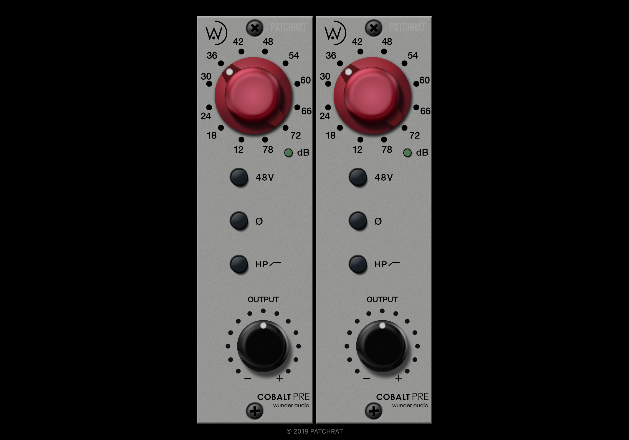 Wunder Audio Cobalt recall module for the Patchrat app