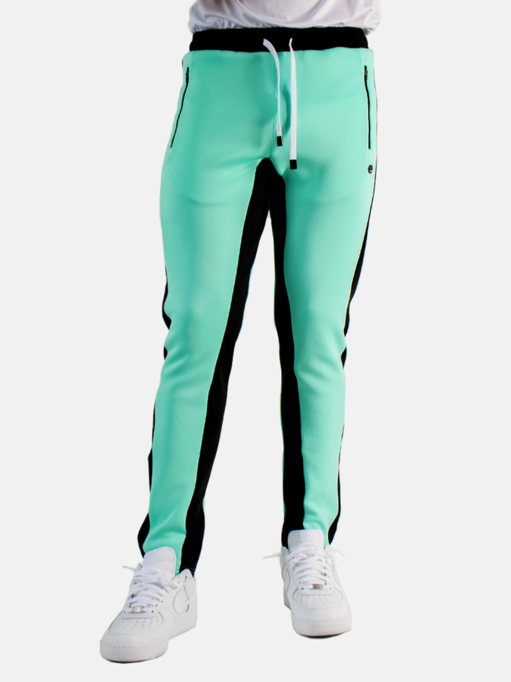 ELBOWGREASE HERO -TRACK PANTS (GREEN/BLACK)