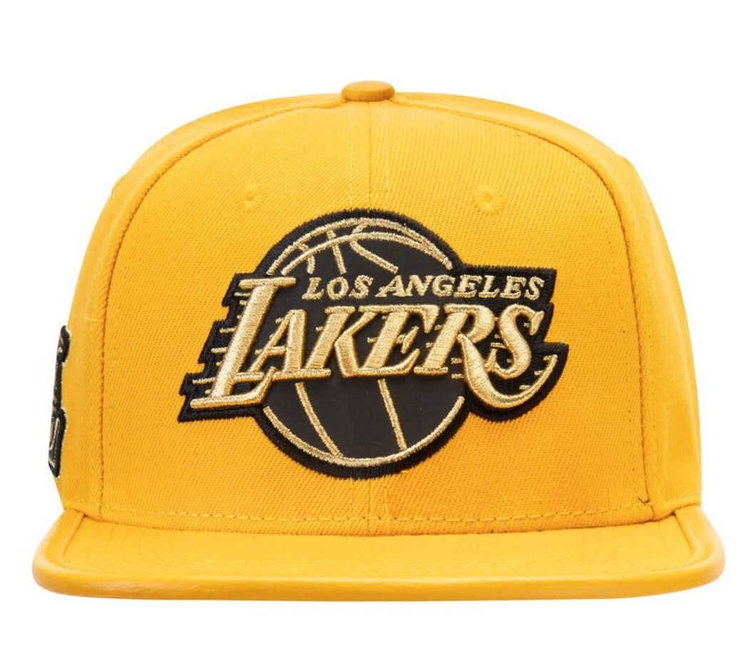 Pro Standard Los Angeles Lakers Logo Adjsustable Gold NBA Strapback Hat