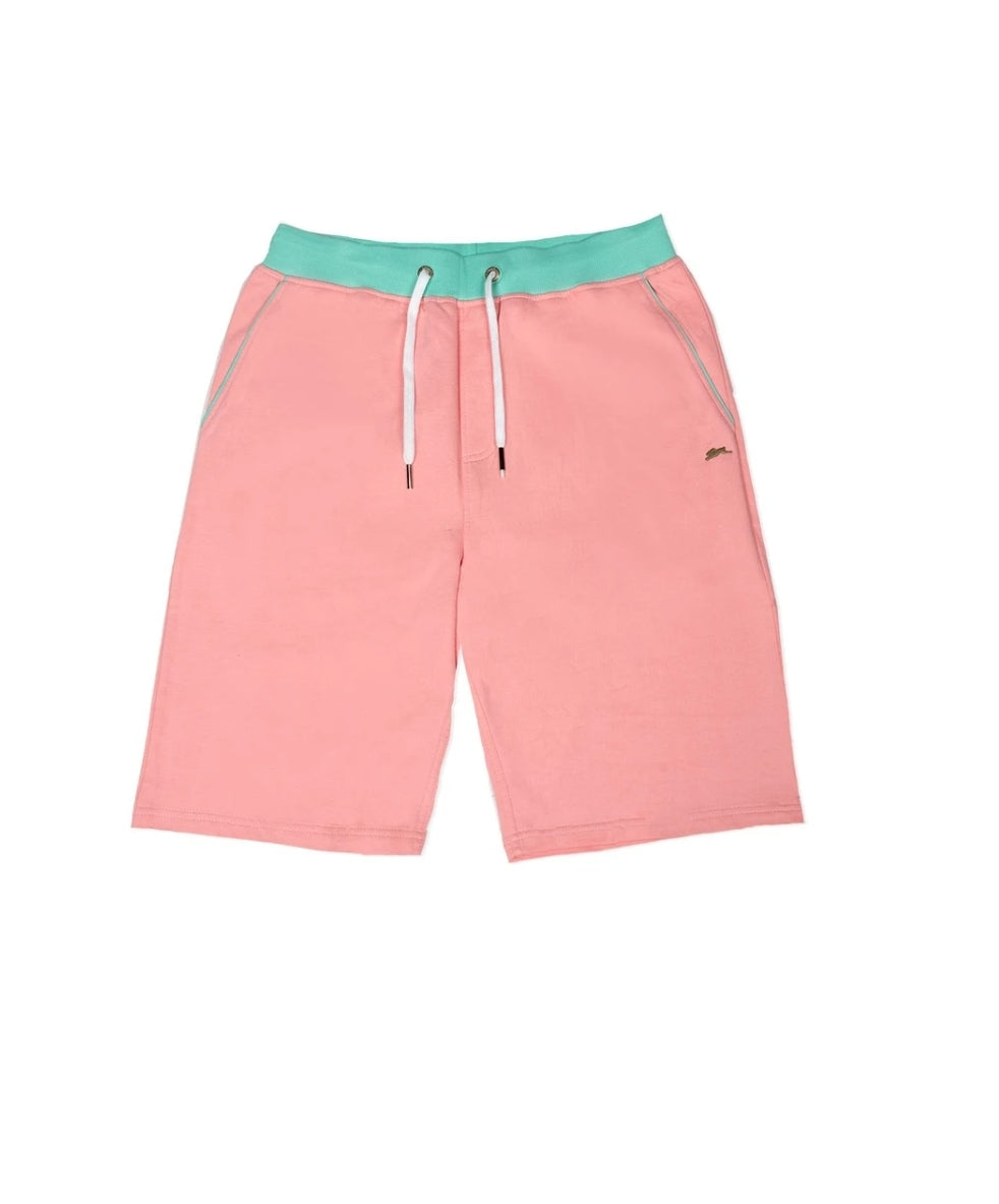 A.Tiziano Wilson Solid French Terry Shorts - Flamingo