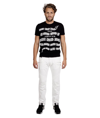 Cult of Individuality White Zip Cycle Jeans