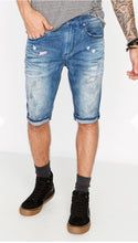 Buffalo David Bitton Parker X Indigo Distressed Shorts
