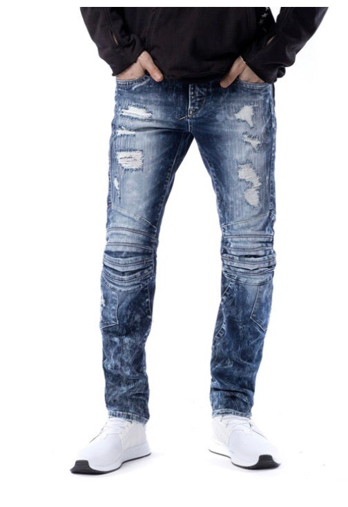 Parasuco Distressed Medium Classic Slim Leg Jeans