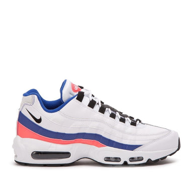 Men's Nike Air Max 95 Essentials- White with Burst Ultramarine