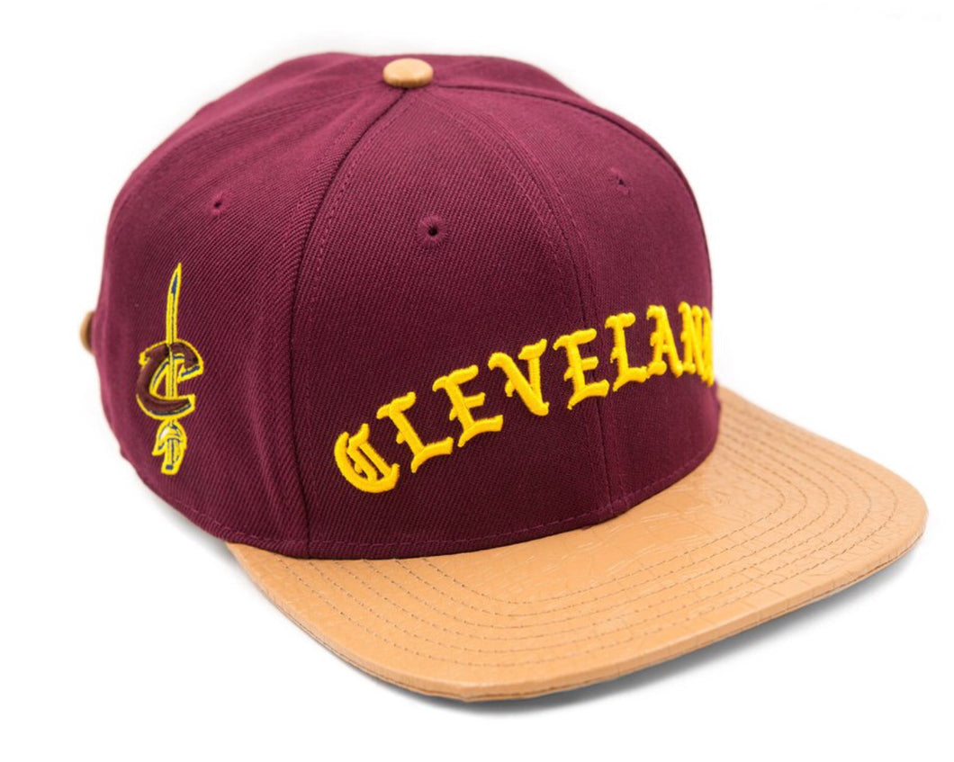 exquisite style retail prices cheap for sale Pro Standard Cleveland Cavilers Old English NBA Strapback Hat ...