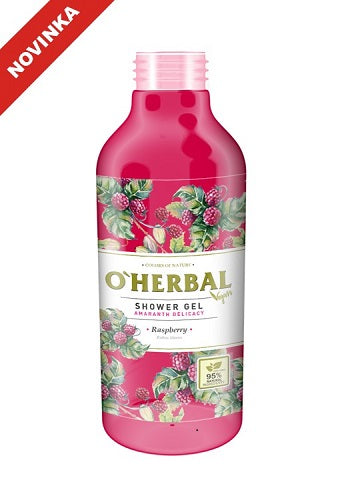 O'Herbal Vegan sprchový gél s malinami 400 ml