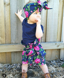 Zara Bloomer Shorts with matching headwrap