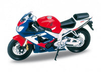 1:18 HONDA CBR900RR FIREBLADE RED/BLUE - morethandiecast.co.za