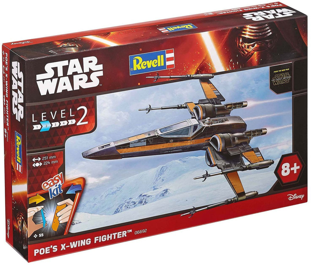 1:78 POE'S X-WING FIGHTER STAR WARS -EASY KIT - morethandiecast.co.za