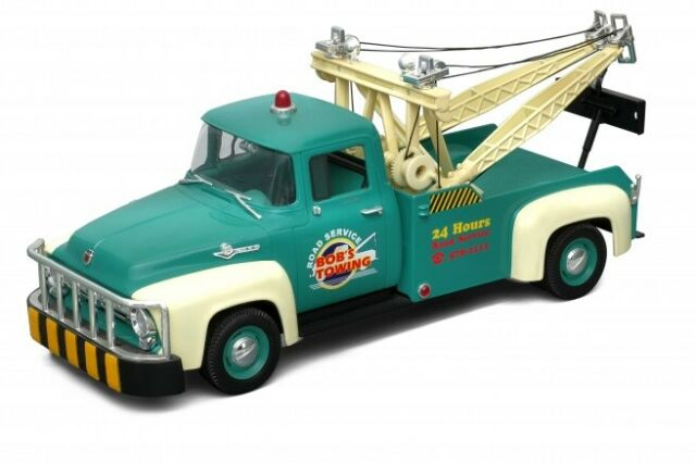 1/18 FORD F100 PICK UP TOW TRUCK GREEN 1956