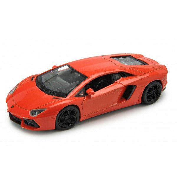 LAMBORGHINI AVENTADOR ORANGE PULLBACK 18 - morethandiecast.co.za