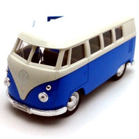 PULLBACK VW BUS T1  RD/BLUE/YL/OR WH ROOF  ASST COLOURS 1/36 - morethandiecast.co.za