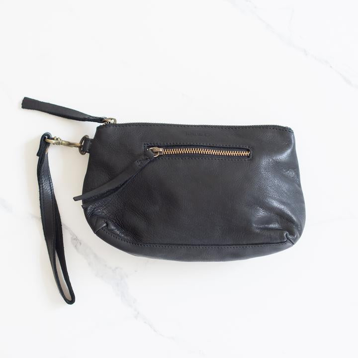 juju & co, Small Leather Essential Pouch black