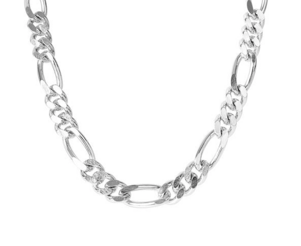 chaptertwo_fairley_silver_figaro_chain_necklace