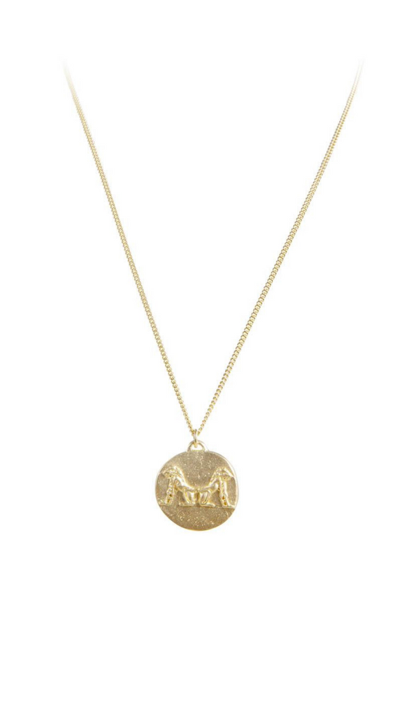 Fairley, Moroccan Drop Necklace Gold