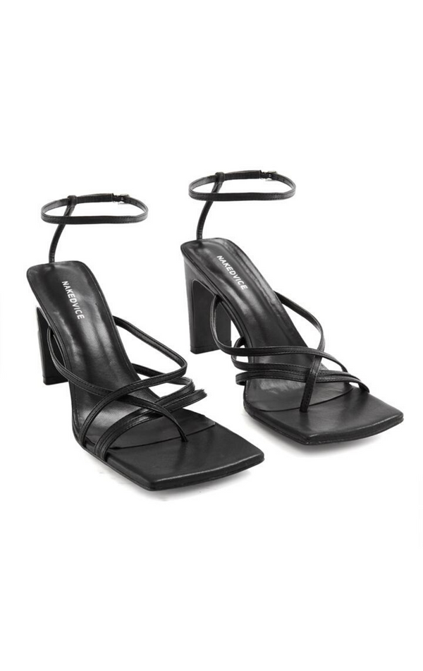 NAKEDVICE The Ayla Heel Black