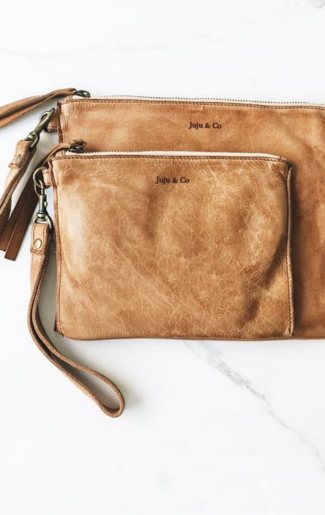 Juju & Co, Small Flat Pouch - Natural