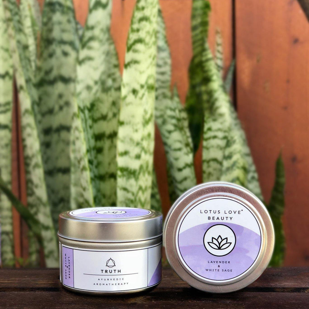 Lavender & White Sage Travel Tin Candle