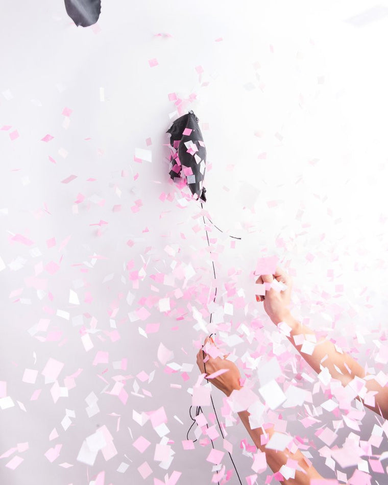 PINK GENDER REVEAL CONFETTI BALLOON