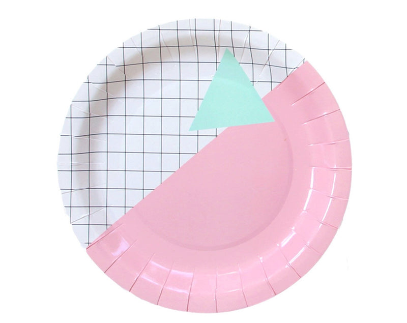 Buy MEMPHIS GRID LARGE PLATES for $8.00