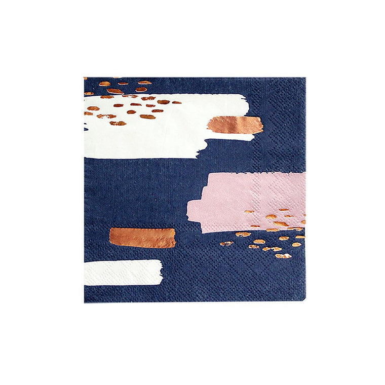 NAVY BLUE ABSTRACT NAPKIN
