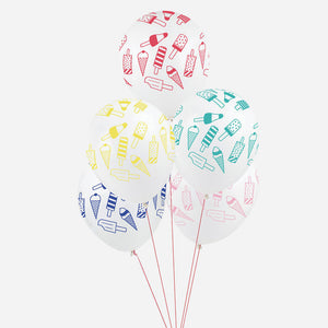 Ice Cream Printed Balloons