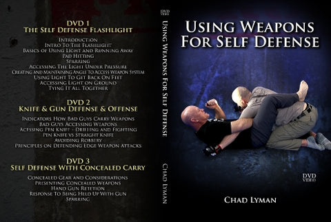 Weapons For Self Defense by Chad Lyman (Includes Flashlight, Pen Knife)