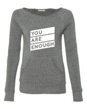 YOU ARE ENOUGH | Women's off-the-shoulder fleece sweatshirt