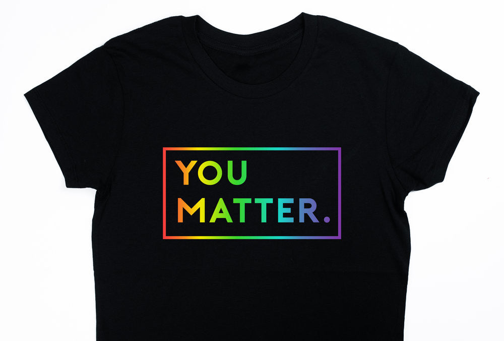 02b017d82 YOU MATTER. | LGBTQ PRIDE SPECIAL EDITION | Women's Crew Neck T-shirt –  MATTER APPAREL