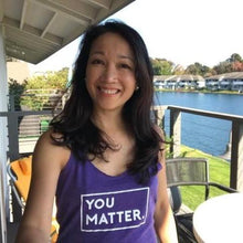 YOU MATTER. | Women's Triblend Racerback Tank