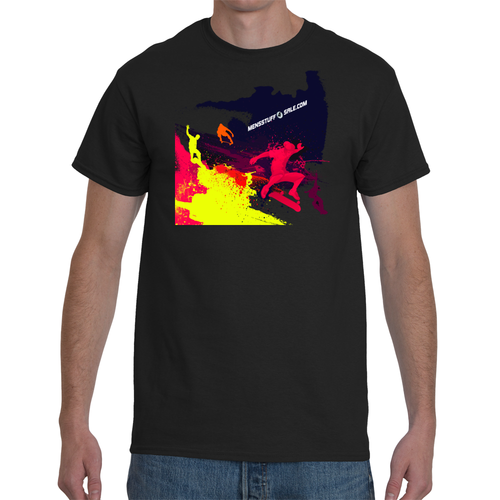 Water Paint Skaters T-shirt