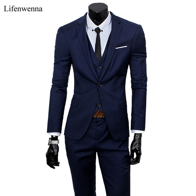 Men's Sharp: 3 Piece Suit, 9 Colours