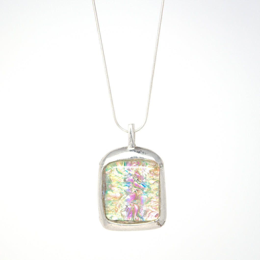 Pink Square Amulet