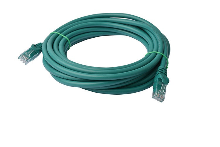Cat 6a UTP Ethernet Network Cable Snagless 5m Green Ethernet Cables Discount Computer Needs