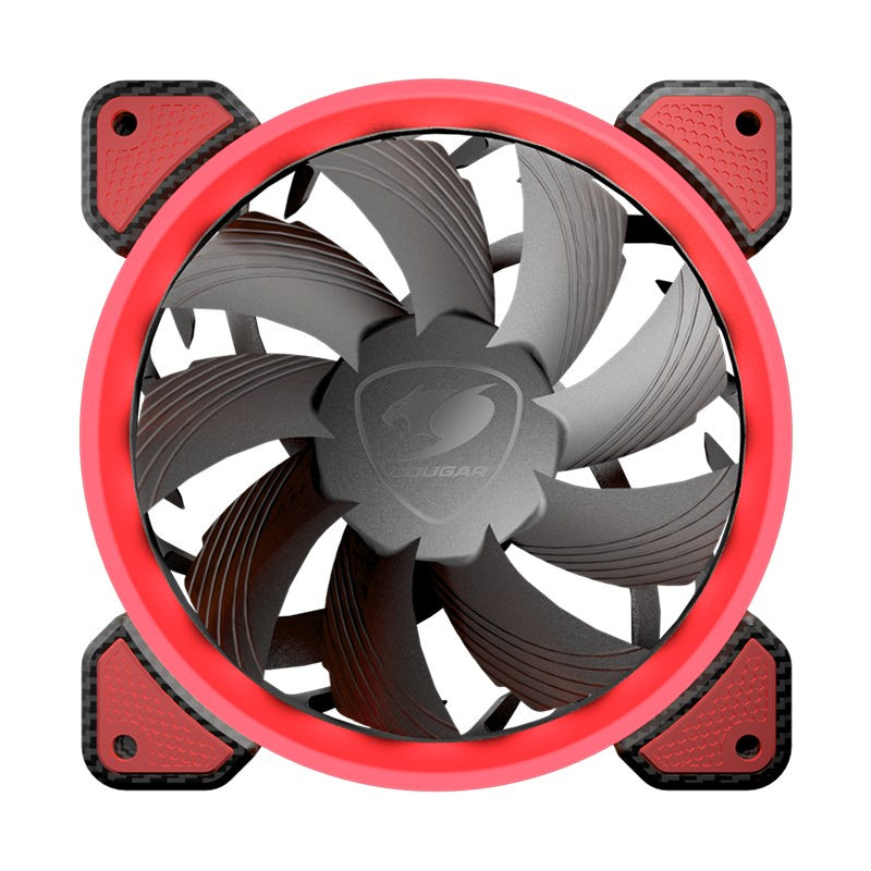 Cougar 120mm Case Cooling Fan Red LED Ring Computer Case Fans Discount Computer Needs