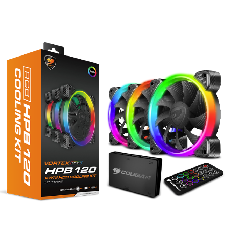 Cougar 3x 120mm Fan with Addressable RGB Kit Computer Case Fans Discount Computer Needs