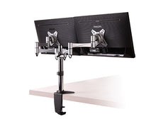 Brateck Aluminium Dual LCD Monitor Table Stand with Arm and Desk Clamp Monitor Mounts and Stands Discount Computer Needs
