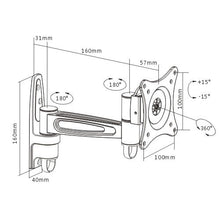 Brateck Tilting Swivel Wall Monitor Mount VESA 75mm 100mm Monitor Mounts and Stands Discount Computer Needs