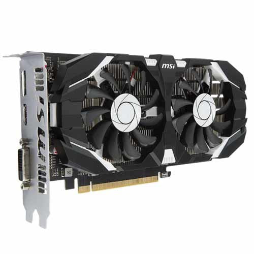 MSI NVIDIA GTX 1050 TI 4GT OC V1 4GB Video Card Video Cards Discount Computer Needs