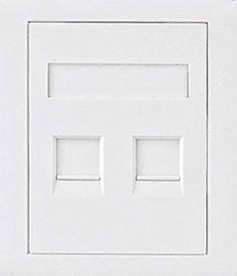 Astrotek CAT5e RJ45 Wall Face Plate 86x86mm 2 Port Socket Kit Plugs, Jacks, and Wall Plates Discount Computer Needs