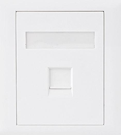 Astrotek CAT6 RJ45 Wall Face Plate 86x86mm 1 Port Socket Kit Plugs, Jacks, and Wall Plates Discount Computer Needs