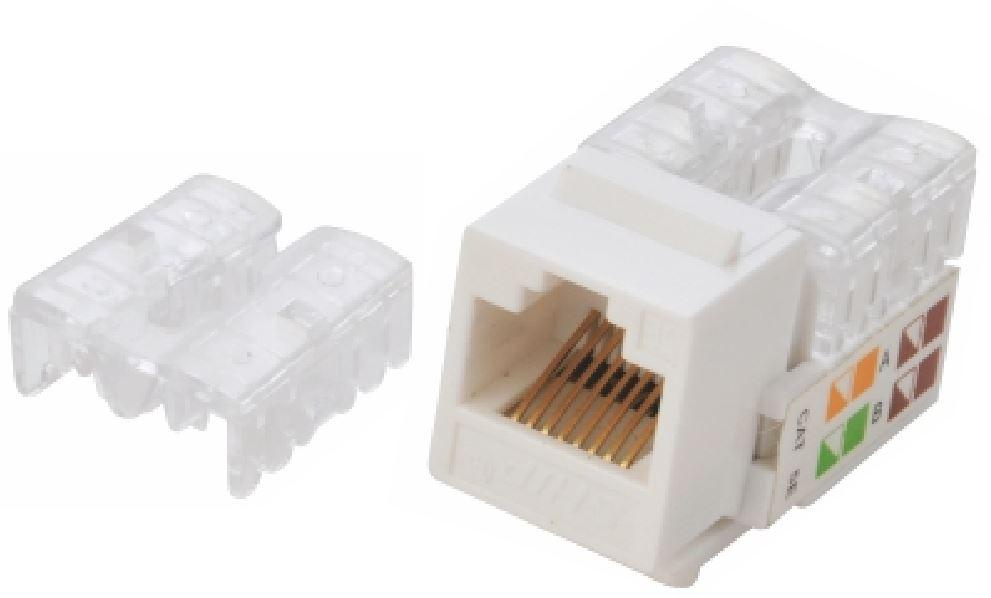 Astrotek CAT6 UTP Keystone Jack for Socket kit 10pcs per pack Poly Bag White LS Plugs, Jacks, and Wall Plates Discount Computer Needs