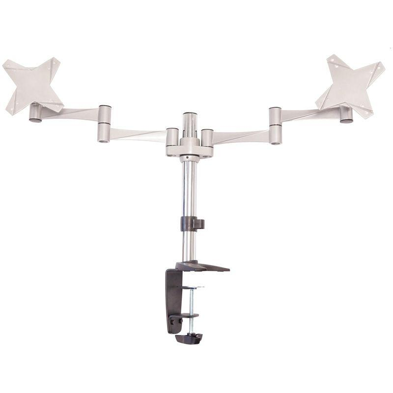 Astrotek Monitor Mount 43cm Arm for Dual Screens 13'-29' 8kg VESA 75x75 100x100 Monitor Mounts and Stands Discount Computer Needs