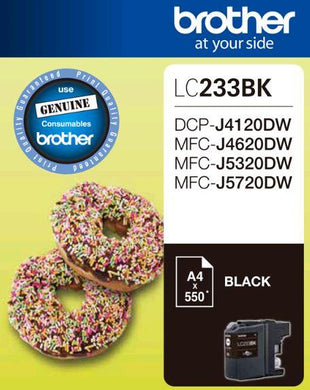 Brother LC 233 Black Ink Cartridge Brother Ink Discount Computer Needs