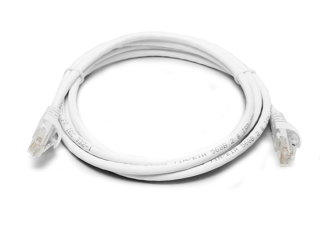 Cat 6a UTP Ethernet Network Cable Snagles 25cm White Ethernet Cables Discount Computer Needs