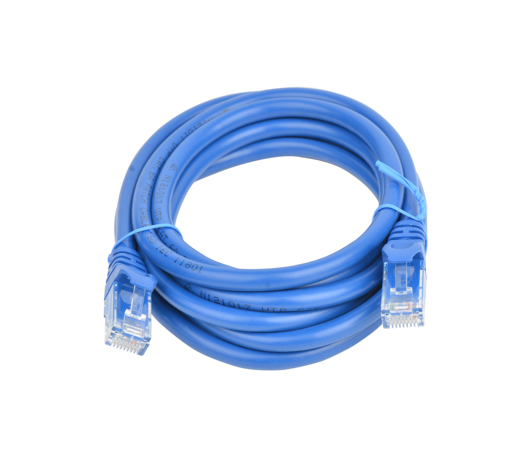 Cat 6a UTP Ethernet Cable, Snagless 2m Blue Ethernet Cables Discount Computer Needs