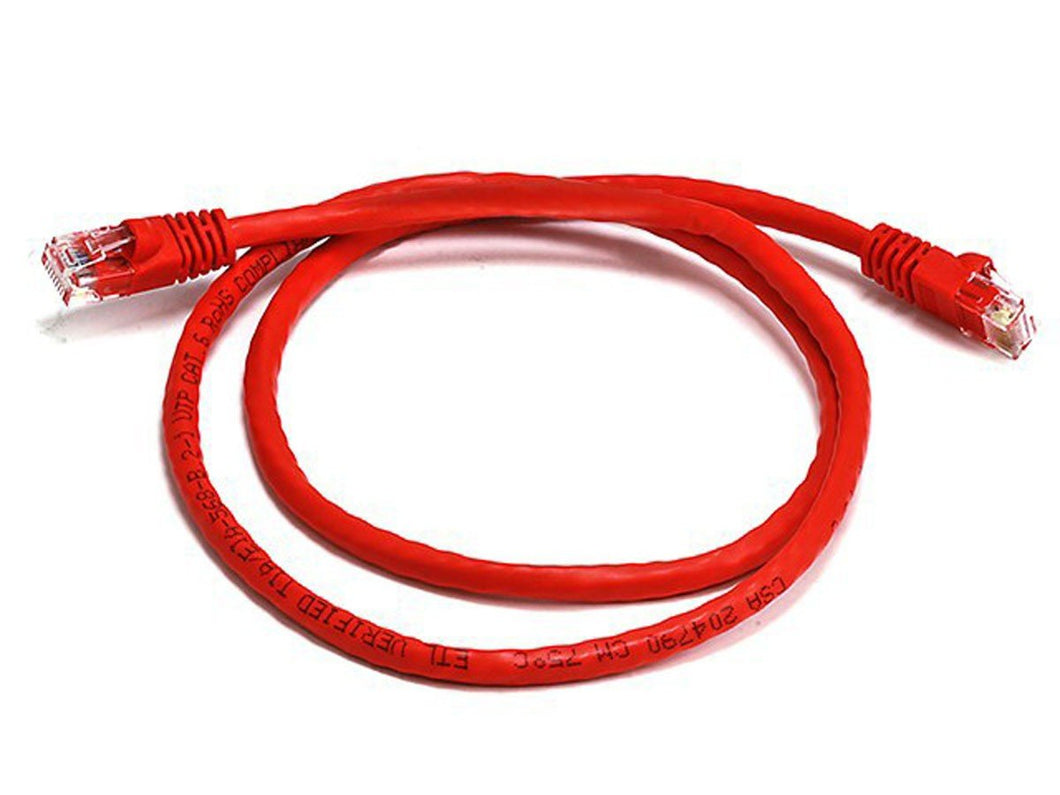 Cat 6a UTP Network Ethernet Cable Snagless Red 2M Ethernet Cables Discount Computer Needs