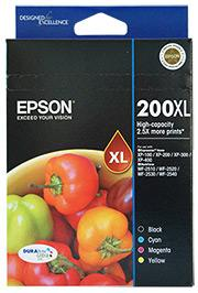 Epson 200XL Value Ink Pack High Capacity Durabrite 4 Ink Epson Ink Discount Computer Needs
