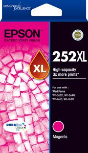 Epson 252XL Genuine Magenta High Yield Ink Cartridge Suits WF3620 3640 7610 7620 C13T253392 Epson Ink Discount Computer Needs
